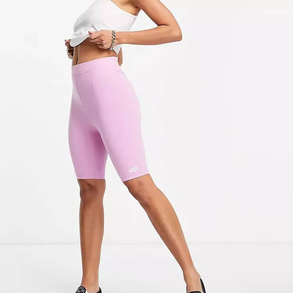 Vans Logo Legging Shorts Pink Full