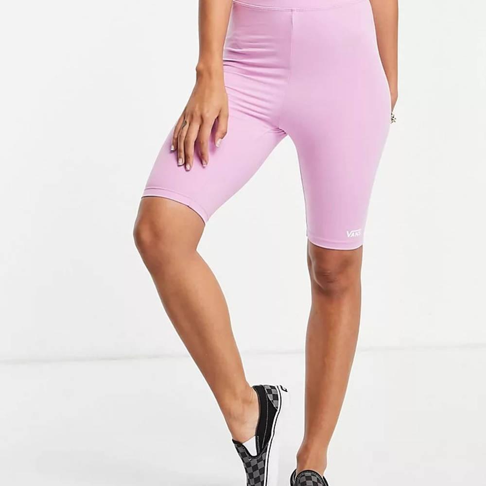 Vans Logo Legging Shorts Pink