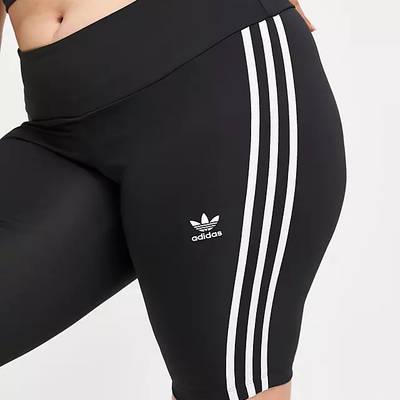 adidas Originals Adicolor 3-Stripe Legging Shorts (Plus Size) Black Detail