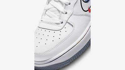 Nike Air Force 1 Low Multi Swoosh GS White DM9473-100 Detail