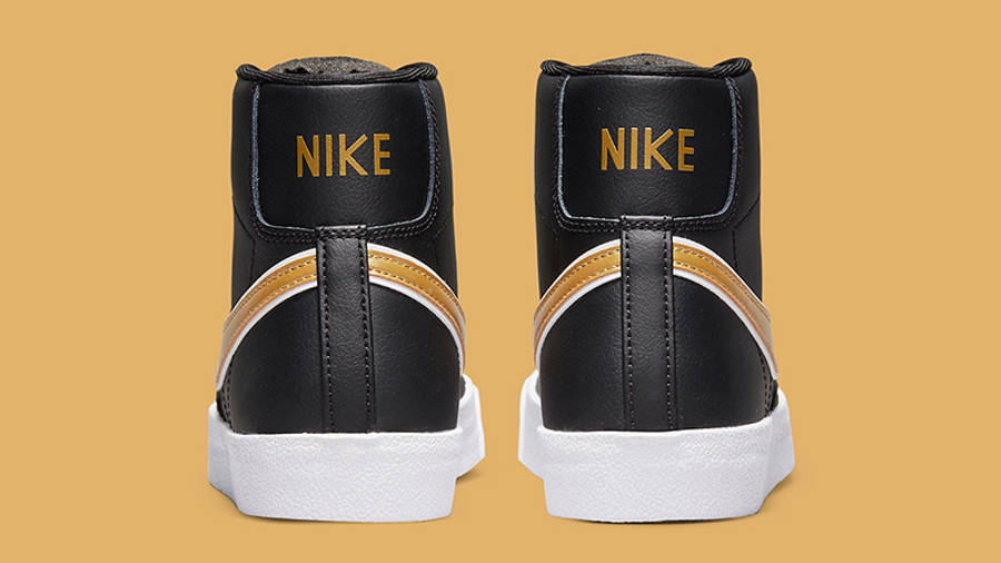 Nike Blazer Mid 77 Metallic Swoosh Black DH0070-001 Back