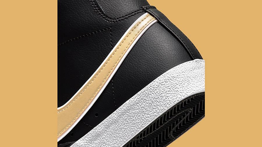 Nike Blazer Mid 77 Metallic Swoosh Black DH0070-001 Detail 2