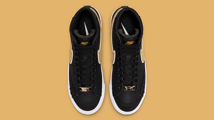 Nike Blazer Mid 77 Metallic Swoosh Black DH0070-001 Top