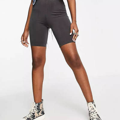 Topshop Washed Legging Shorts Black