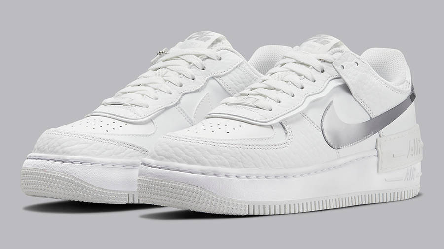 Nike Air Force 1 Shadow White Grey DQ0837-100 Side