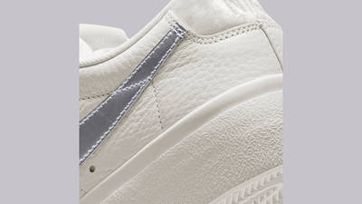 Nike Blazer Low Platform Sail Metallic Silver DO8993-100 Detail 2