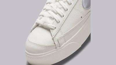 Nike Blazer Low Platform Sail Metallic Silver DO8993-100 Detail