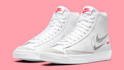 Nike Blazer Mid GS Multi Swoosh DO6487-100 Side