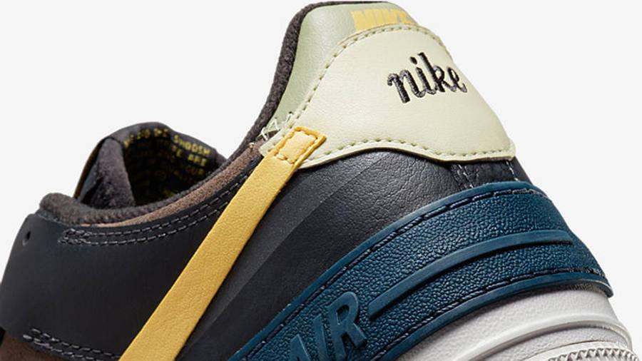 nike air force 1 shadow black brown yellow dq0881 001 detail 2 w900